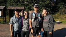 Me and my awesome crew at the last aid station at Superior 100.