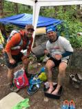 Bighorn 100 with my pacer Alain.